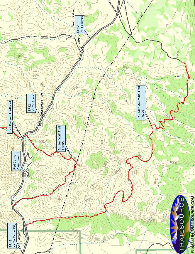 Thunder Mountain Trail Mountain Biking Map