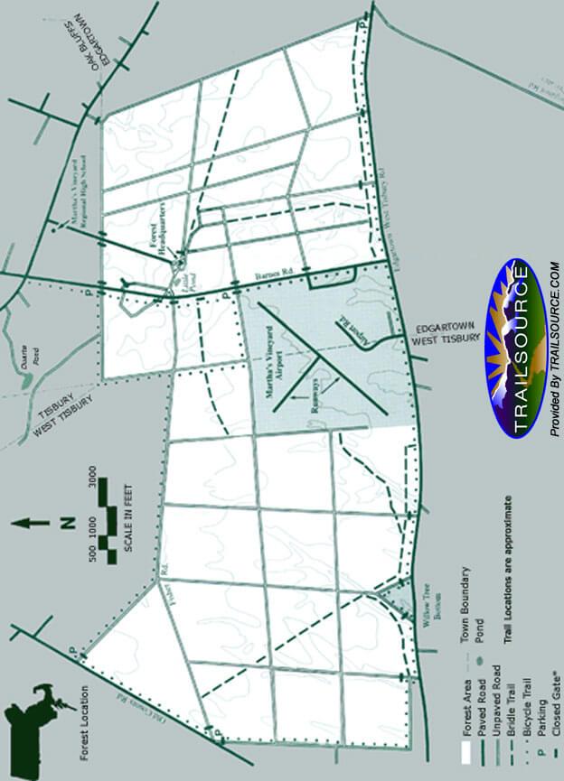 Manuel F. Correllus State Forest Mountain Biking Map