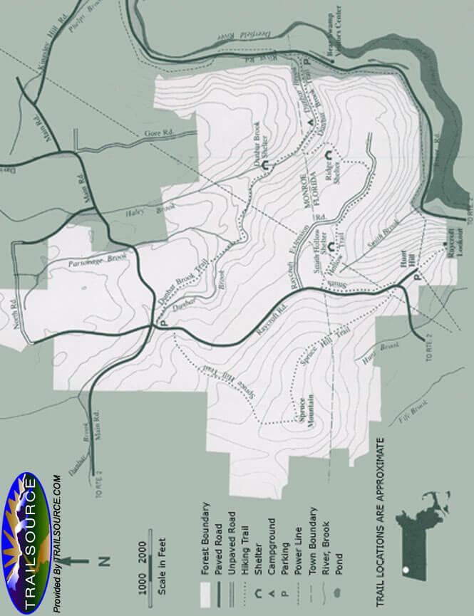 Monroe State Forest Horseback Riding Map