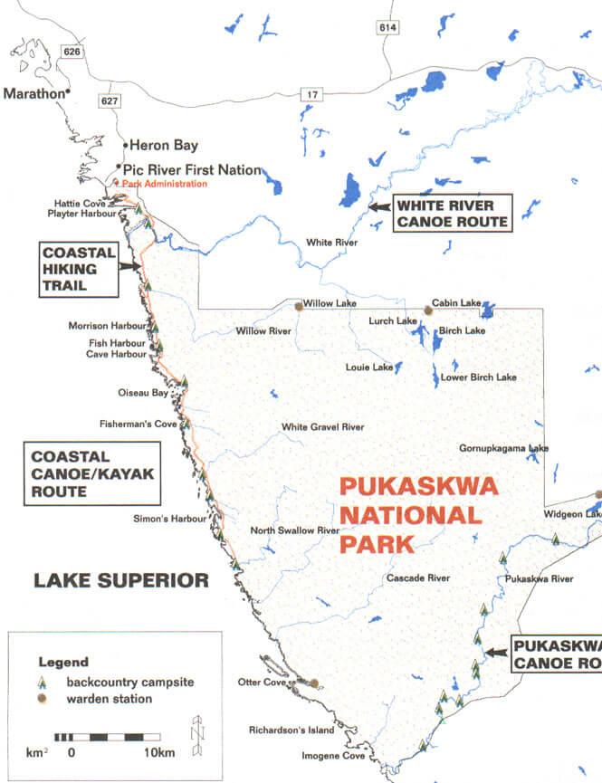 White River Trail Hiking Map