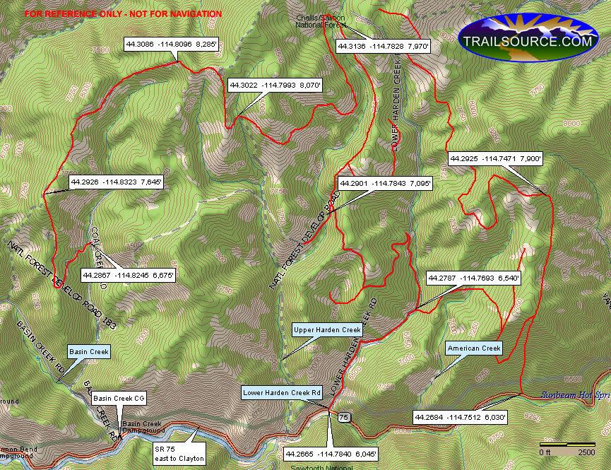 Upper Harden Creek / Coal Creek Trail ATV Trails Map