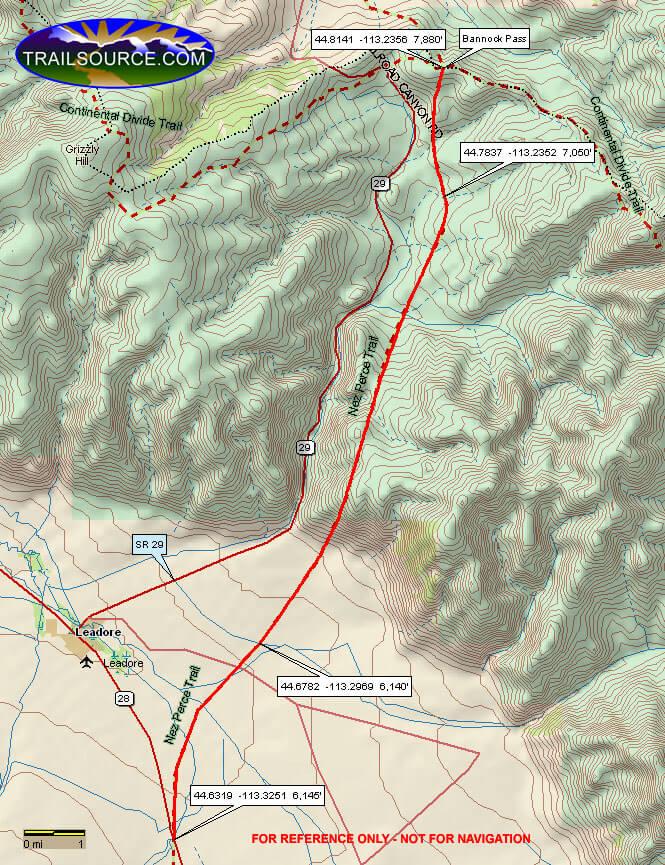 Nez Perce National Historic Trail ATV Trails Map