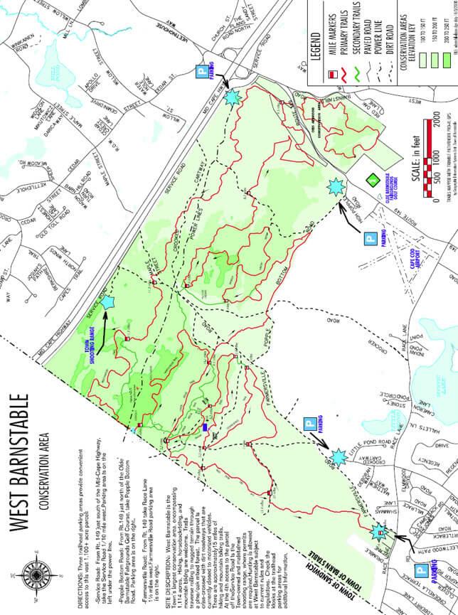 Trail Of Tears Mountain Biking Map