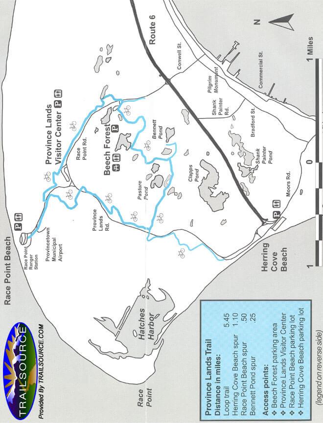 Province Lands Bike Trail Mountain Biking Map