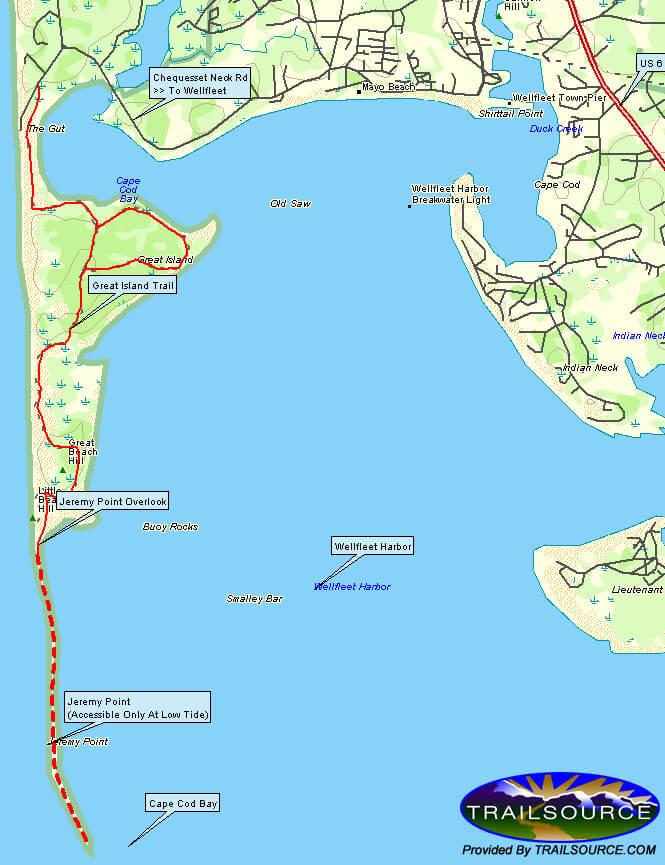Great Island Trail Hiking Map