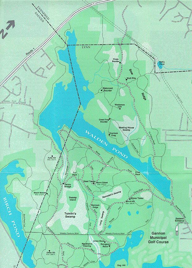 Lynn Woods Reservation Mountain Biking Map