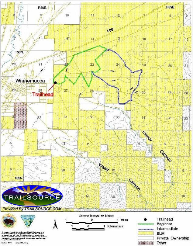 Bloody Shins Trail Mountain Biking Map