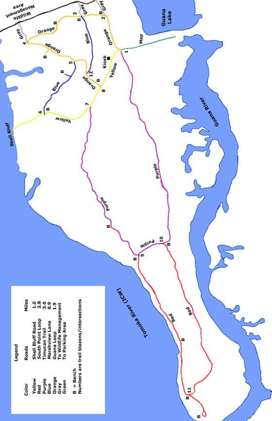 Loop Trail Hiking Map