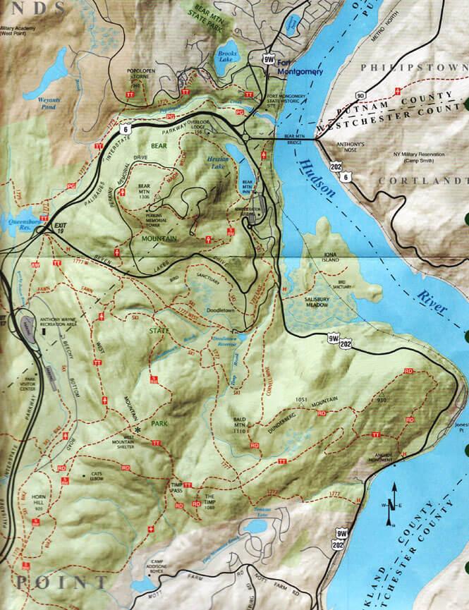Bear Mountain Loop Trail Hiking Map