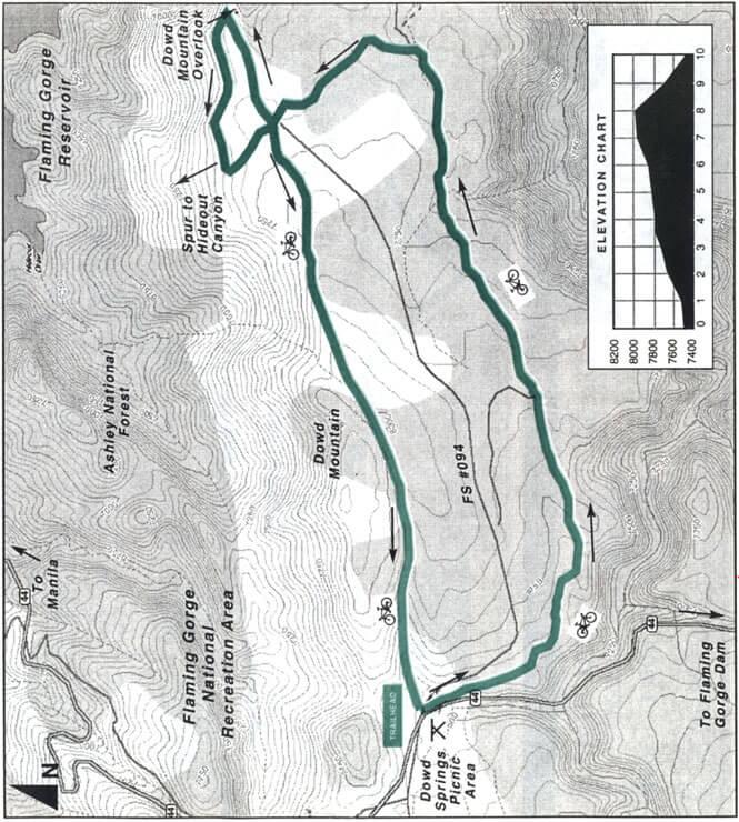 Dowd Mountain Loop Trail Mountain Biking Map