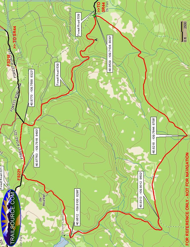 Elk Park Loop Trail Mountain Biking Map