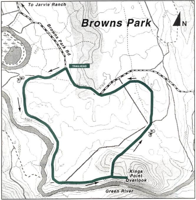 Kings Point Loop Trail Mountain Biking Map