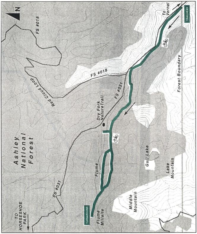 Dry Fork Flume Trail Mountain Biking Map
