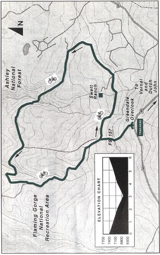 Swett Ranch Loop Mountain Biking Map