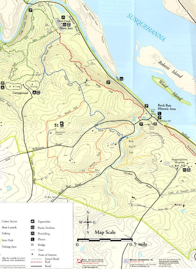 Susquehanna State Park Hiking Map