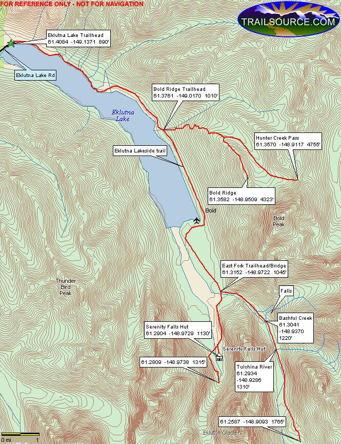 East Fork Trail Hiking Map