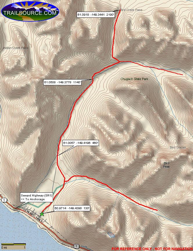 Bird Creek Valley Horse Trail Horseback Riding Map