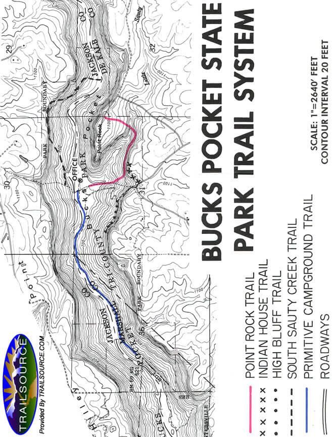 Rock Point Horse Trail Horseback Riding Map