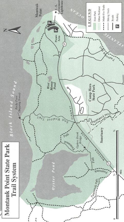 Montauk State Park Mountain Biking Map