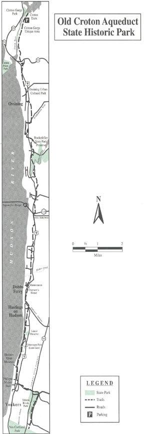 Old Croton Trailway Hiking Map