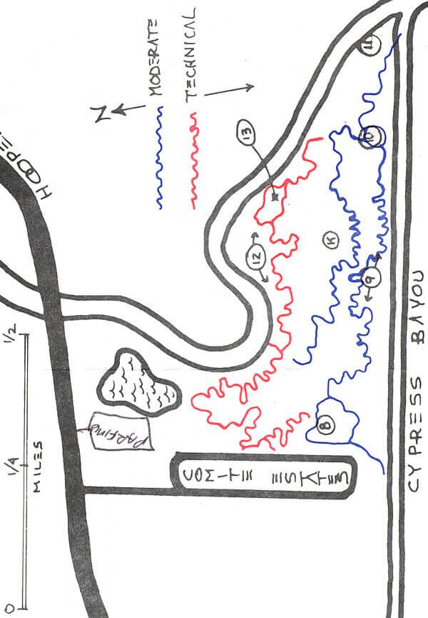Comite Park Mountain Biking Map