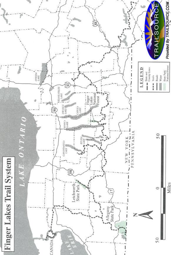 Finger Lakes Trail Hiking Map