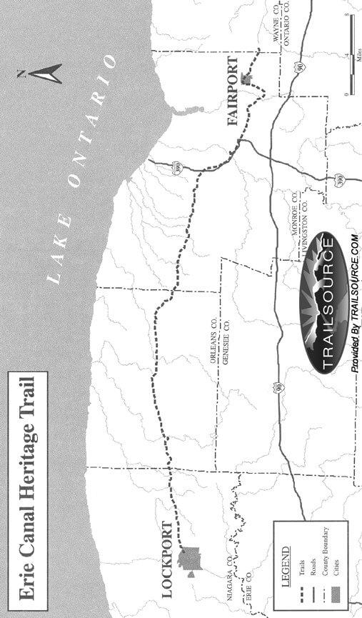Erie Canal Trail Mountain Biking Map