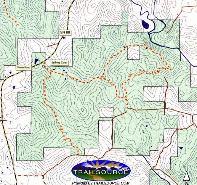 Oriole East Trail System Mountain Biking Map