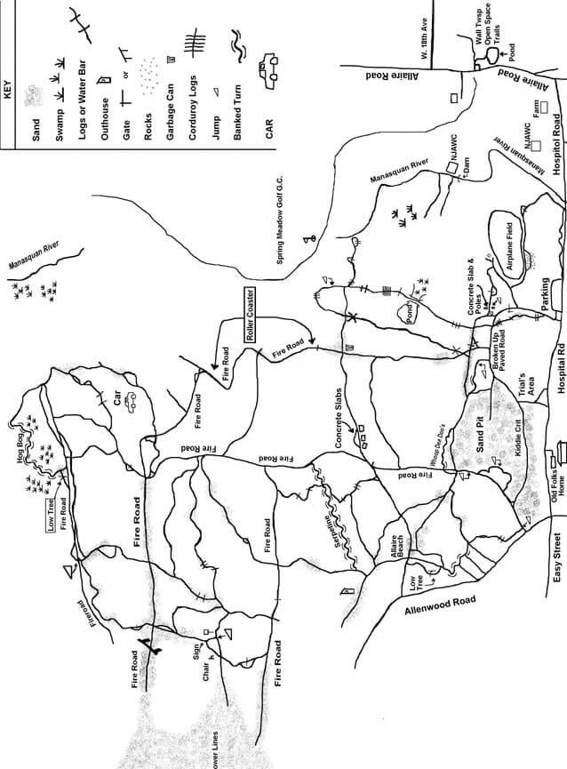 Allaire State Park Mountain Biking Map
