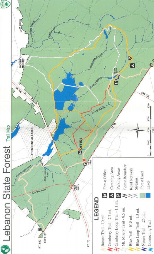 Brendan T. Byrne State Forest Mountain Biking Map