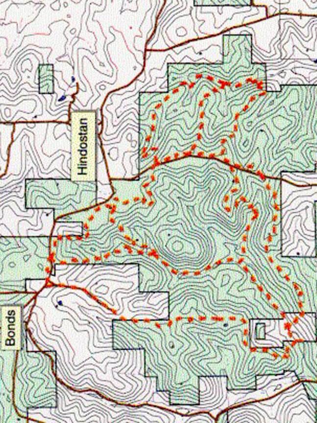 Shirley Creek Mountain Biking Map