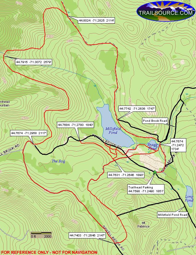 Millsfield Pond ATV Trails Map