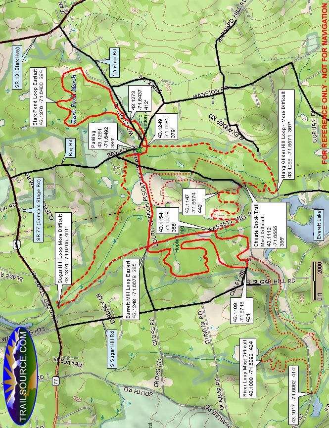 Hopkinton-Everett Multi-Use Trail System ATV Trails Map