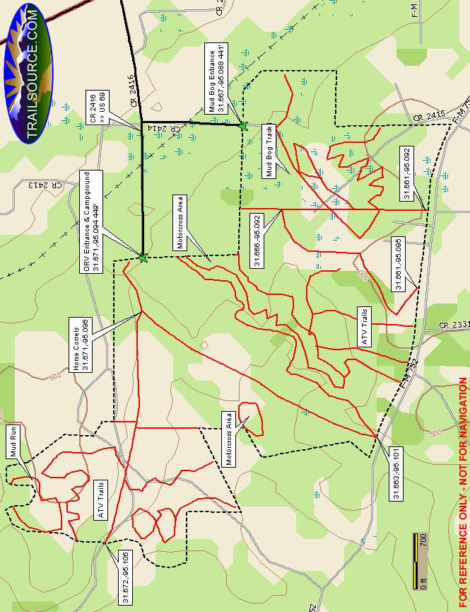 Shiloh Ridge ATV Trails Map