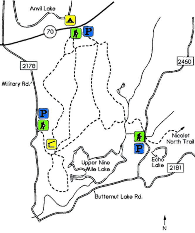 Anvil Trail Mountain Biking Map