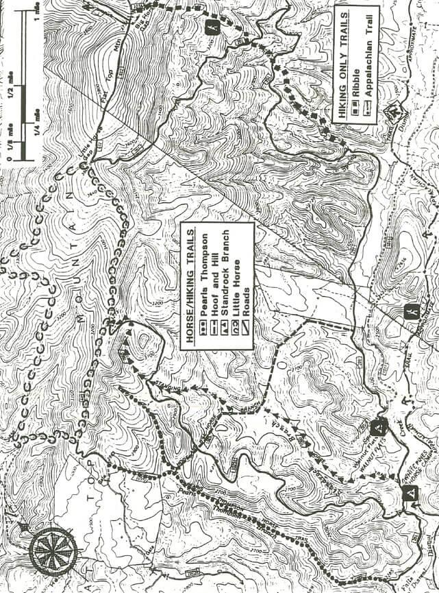 White Pines Horseback Riding Map