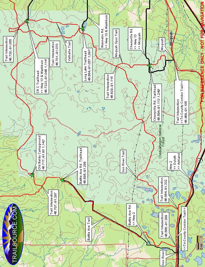 Iron River ATV Trail ATV Trails Map