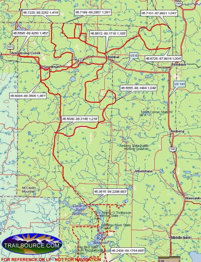 Marinette County ATV Trails ATV Trails Map