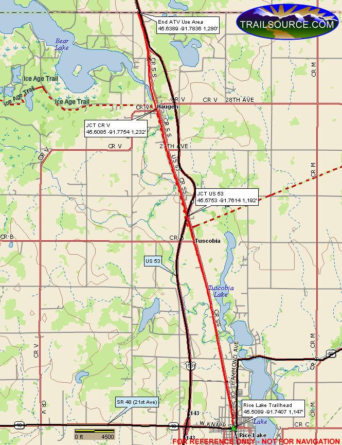 Barron County Horseback Riding Map