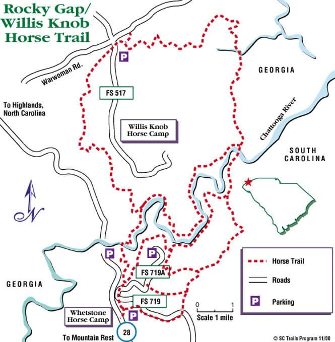 Rocky Gap Horse Trail Horseback Riding Map