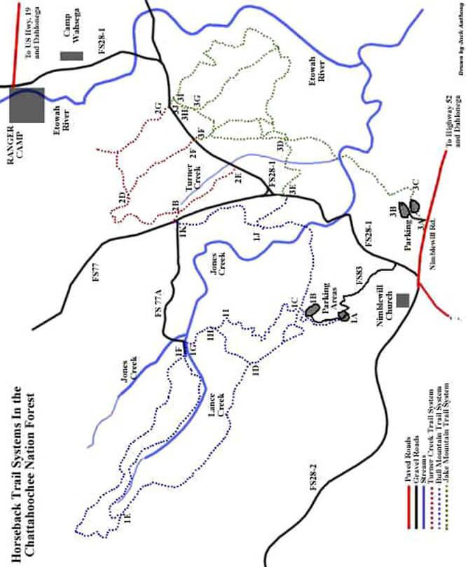 Turner Creek Trail Horseback Riding Map
