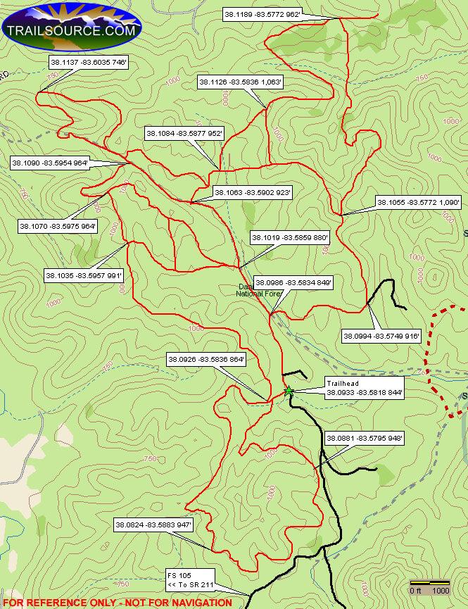 White Sulpher ATV Trail ATV Trails Map