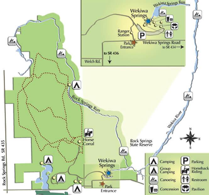 Lower Wekiva Horse Trail Horseback Riding Map