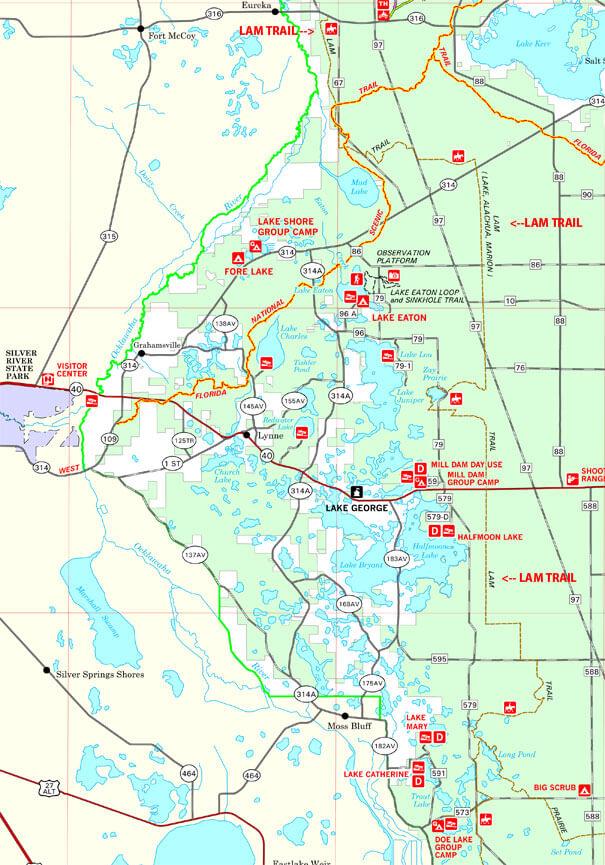 LAM Trail Horseback Riding Map