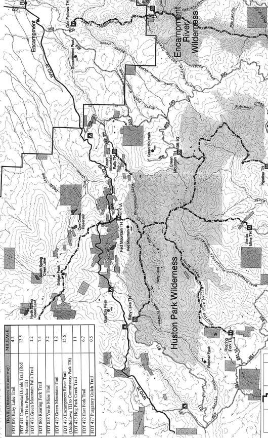 Red Mountain Trail Horseback Riding Map