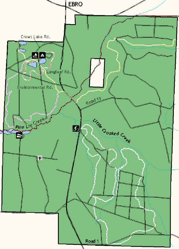 Crooked Creek Mountain Bicycle Trail Mountain Biking Map