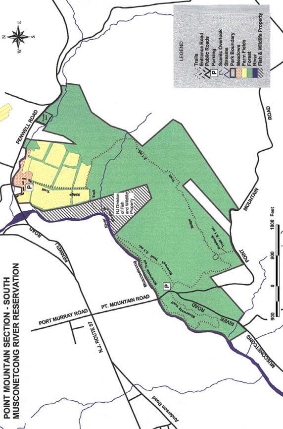 Musconetcong River Reservation Mountain Biking Map