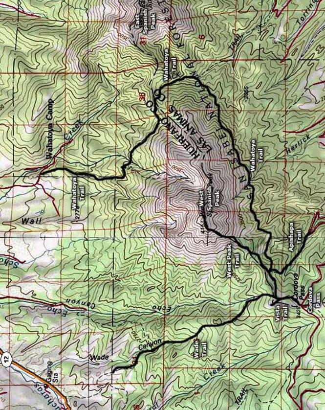 Wahatoya Trail Horseback Riding Map