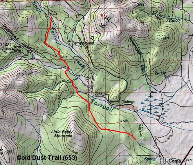 Gold Dust Trail Horseback Riding Map