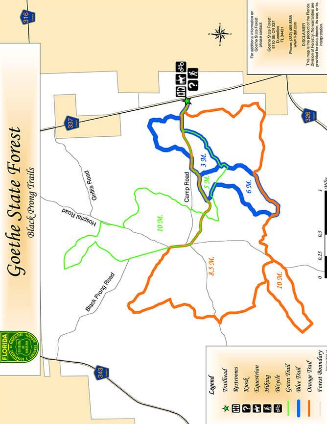 Black Prong Mountain Biking Map